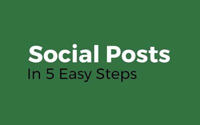 Social Posts In 5 Easy Steps